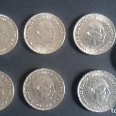 Monedas Franco: LOTE DE 7 MONEDAS DE 5 PTS DE 1949 FRANCO. Lote 137555238