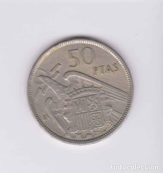 Monedas Franco: MONEDAS - ESTADO ESPAÑOL - 50 PESETAS 1957 (BA) - PG-362 (MBC-) - Foto 2 - 137574458