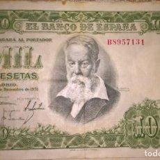 Monedas Franco: BILLETE 1000 PESETAS 1951 SERIE B BUEN ESTADO. Lote 137923446