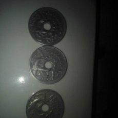 Monedas Franco: LOTE TRES MONEDAS 50 CTS 1949*19-54. Lote 138264786