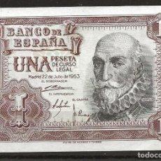 Monedas Franco: R60.BAUL_2/ ESPAÑA, BILLETE DE 1 PESETA, SIN CIRCULAR, 22 DE JULIO DE 1953. Lote 138681974