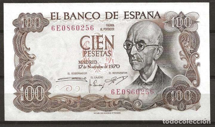 R60.BAUL_2/ ESPAÑA, BILLETE DE 100 PESETAS, SIN CIRCULAR, NOV. DE 1970 (Numismática - España Modernas y Contemporáneas - Estado Español)