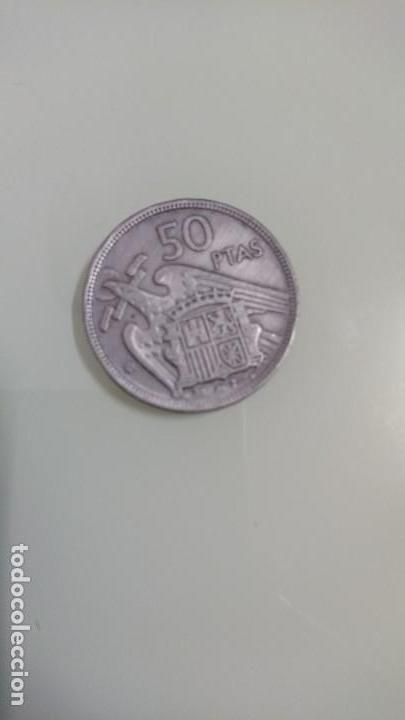 Monedas Franco: Moneda cincuenta pesetas 1957 - Foto 2 - 138711290