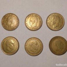 Monedas Franco: 6 MONEDAS DE UNA PESETA -3 DE FRANCO 1966-75*74*68* Y 3 JUAN CARLOS I - 1975-79*78*80* - VER FOTOS. Lote 138823662