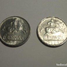 Monedas Franco: DOS MONEDAS DE 5 CTS 1953 EBC. Lote 138861550