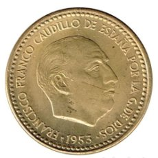 Monedas Franco: 1 PESETA 1953 ESTRELLA 54 EBC. Lote 139172238