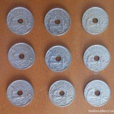 Monedas Franco: SERIE COMPLETA MONEDAS 50 CÉNTIMOS 1949: 51,52,53,54,56,62 Y 1963: 63,64,65. Lote 161748514