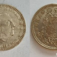 Monedas Franco: ESPAÑA - 1 PESETA, 1966 - ESTRELLA 74 - KM# 796. Lote 140198522