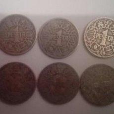 Monedas Franco: LOTE 10 MONEDAS COBRE DE UNA PESETA 1944. Lote 140299882