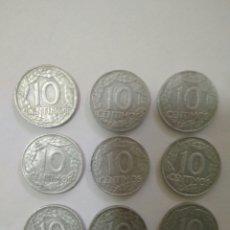Monedas Franco: 9 MONEDA 10 CENTIMOS 1959 FRANCO ESTADO ESPAÑOL. Lote 140485441