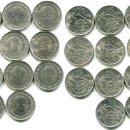 Monedas Franco: 25 PESETAS 1957, SERIE COMPLETA DE 14 MONEDAS MENOS LA 73 DE PRUEBA, TODAS S/C --. Lote 140581694