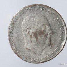 Monedas Franco: N084_100 PESETAS DE FRANCO DE 1966 (*_-_7).- FALSA DE EPOCA CON LA HOZ Y EL MARTILLO EN EL CANTO. Lote 140709154