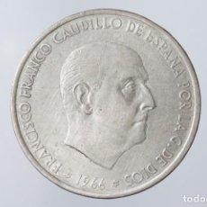 Monedas Franco: N085.- 100 PESETAS DE FRANCO DE 1966 (*19-67).- DOBLE PERFIL NARIZ Y BARBILLA MUY MARCADO. Lote 140711358