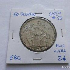 Monedas Franco: 50 PESETAS 1957 * 58 EBC. Lote 141733538