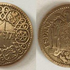 Monedas Franco: ESPAÑA - 1 PESETA, 1944 - KM# 767. Lote 142426898
