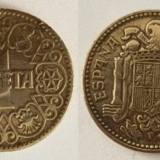 Monedas Franco: ESPAÑA - 1 PESETA, 1944 - KM# 767. Lote 142426918