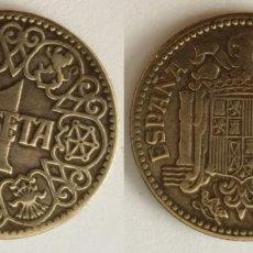 Monedas Franco: ESPAÑA - 1 PESETA, 1944 - KM# 767. Lote 142426966