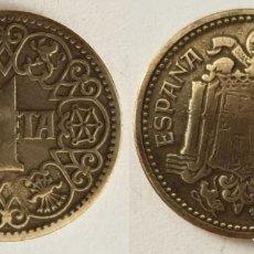Monedas Franco: ESPAÑA - 1 PESETA, 1944 - KM# 767. Lote 142427010