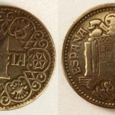 Monedas Franco: ESPAÑA - 1 PESETA, 1944 - KM# 767. Lote 142427082