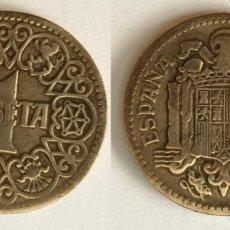 Monedas Franco: ESPAÑA - 1 PESETA, 1944 - KM# 767. Lote 142427162