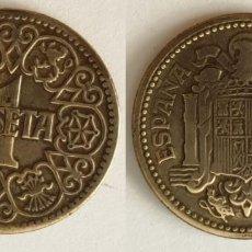 Monedas Franco: ESPAÑA - 1 PESETA, 1944 - KM# 767. Lote 142427182