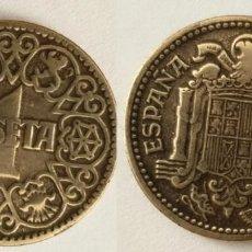 Monedas Franco: ESPAÑA - 1 PESETA, 1944 - KM# 767. Lote 142427198