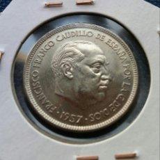 Monedas Franco: 25 PESETAS 1957 *69 SC. Lote 142940121