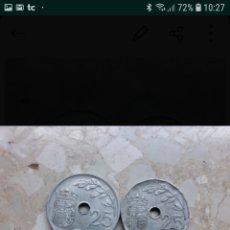 Monedas Franco: 2 MONEDAS 25 CTS. CENTIMOS 1937 AÑO TRIUNFAL. Lote 143129988