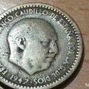 Monedas Franco: UNA 1 PESETA 1947. MBC. SIN CONFIRMAR ESTRELLAS. BUEN ESTADO. Lote 143291798