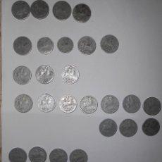 Monedas Franco: 42 MONEDAS DE 10 CTMS. LA PERRA GORDA 1940, 41, 45 Y 53.. Lote 143591078