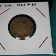 Monedas Franco: ESPAÑA 1 PESETA 1947/52 MBC. Lote 143851318