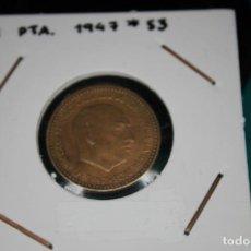 Monedas Franco: ESPAÑA 1 PESETA 1947/53 MBC. Lote 143851350