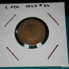 Monedas Franco: ESPAÑA 1 PESETA 1947/54 MBC. Lote 143851362