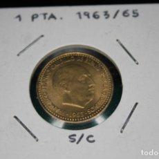 Monedas Franco: ESPAÑA 1 PESETA FRANCO 1963/65 S/C. Lote 143851474
