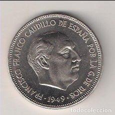 Monedas Franco: MONEDA DE 5 PESETAS DEL ESTADO ESPAÑOL (FRANCO) DE 1949 *19-51 CECA DE MADRID. PROOF. (EE8). Lote 144004862