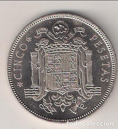 Monedas Franco: MONEDA DE 5 PESETAS DEL ESTADO ESPAÑOL (FRANCO) DE 1949 *19-51 CECA DE MADRID. PROOF. (EE8) - Foto 2 - 144004862