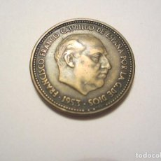 Monedas Franco: MONEDA DE 2,50 PESETAS DE FRANCO DE 1953*54. Lote 144503458