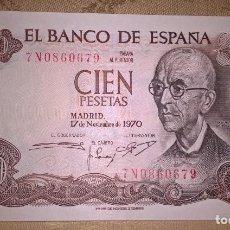 Monedas Franco: BILLETE 100 PESETAS ESPAÑA. 1970. SIN CIRCULAR. SERIE 7N.. Lote 144728694