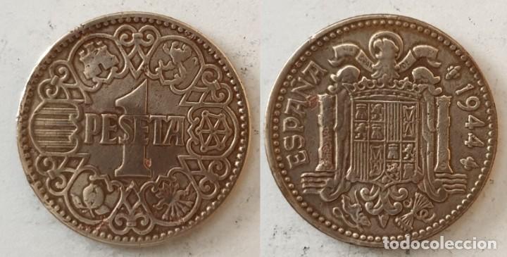 ESPAÑA - 1 PESETA, 1944 - KM# 767 (Numismática - España Modernas y Contemporáneas - Estado Español)