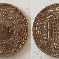 Monedas Franco: ESPAÑA - 1 PESETA, 1944 - KM# 767. Lote 144847766