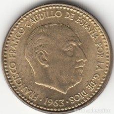 Monedas Franco: FRANCO: 1 PESETA 1963 ESTRELLA 19-64. Lote 30241923