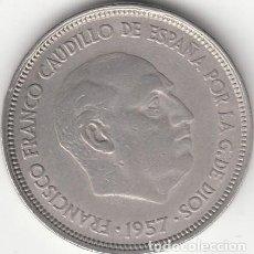 Monedas Franco: FRANCO: 25 PESETAS 1957 ESTRELLAS 19-58. Lote 145333054