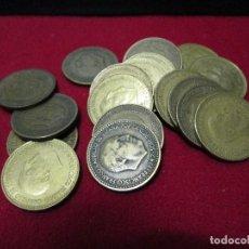 Monedas Franco: 20 MONEDAS DE PESETA GENERAL FRANCO A CLASIFICAR. Lote 146126278
