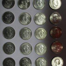 Monedas Franco: CONJUNTO DE 20 MONEDAS DE 100 PESETAS DE PLATA DEL ESTADO ESPAÑOL, VARIAS FECHAS. LOTE 1439. Lote 147361442