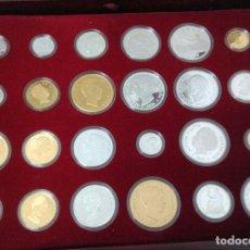 Monedas Franco: HISTORIA DE LA PESETA - EMITIDA POR LA F.N.M.T. - 24 MONEDAS DE PLATA DE 0'925 - PROOF. Lote 147363298