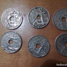 Monedas Franco: 6 MONEDAS DE 50 CENTIMOS DE 1949 VARIADAS. Lote 147377362