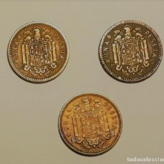 Monedas Franco: TRES MONEDAS DE UNA PESETA DE 1947. *49, *53, *54. BC. Lote 147377734