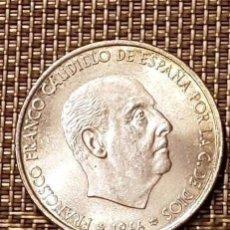 Monedas Franco: OCASIÓN - MONEDA PLATA FRANCO, 100 PESETAS 1966*19-69 - PALO RECTO - SIN CIRCULAR - AUTÉNTICA. Lote 147551674