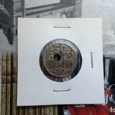 Monedas Franco: 50 CÉNTIMOS DE 1949 CON AGUJERO BASTANTE DESPLAZADO. Lote 147788202