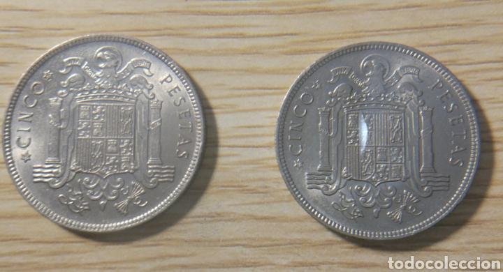 Monedas Franco: 5 pesetas Franco 1949*19*49 y*19*50 - Foto 2 - 147839482